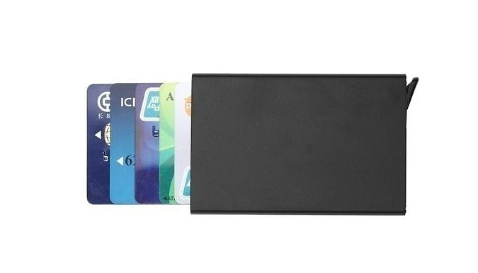 1 or 2 RFID Blocking Card Holder - 6 Colours
