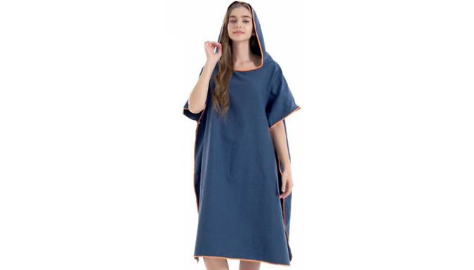 Changing Robe Towel Poncho with Hood - 7 Colours